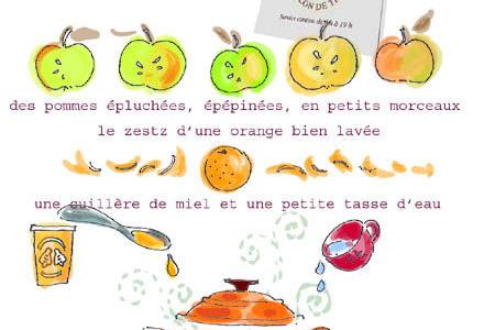 Compote légère pomme-miel-orange par Tambouille