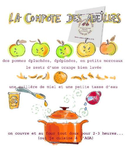 compote légère pomme-miel-orange