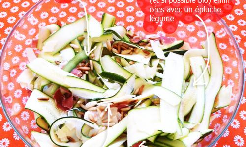 Salade de courgettes par Tambouille