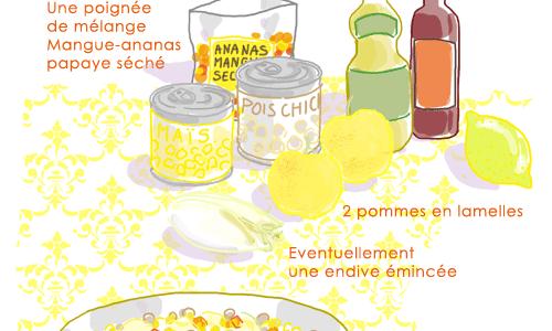 Salade de Maïs et pois-chiches
