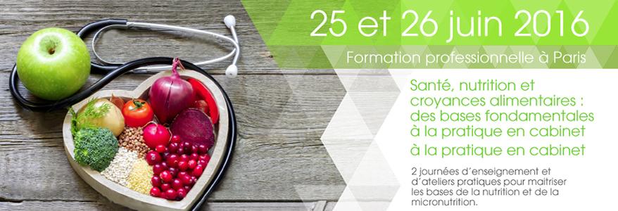 Formation Santé, nutrition et croyances alimentaires : des bases fondamentales à la pratique en cabinet