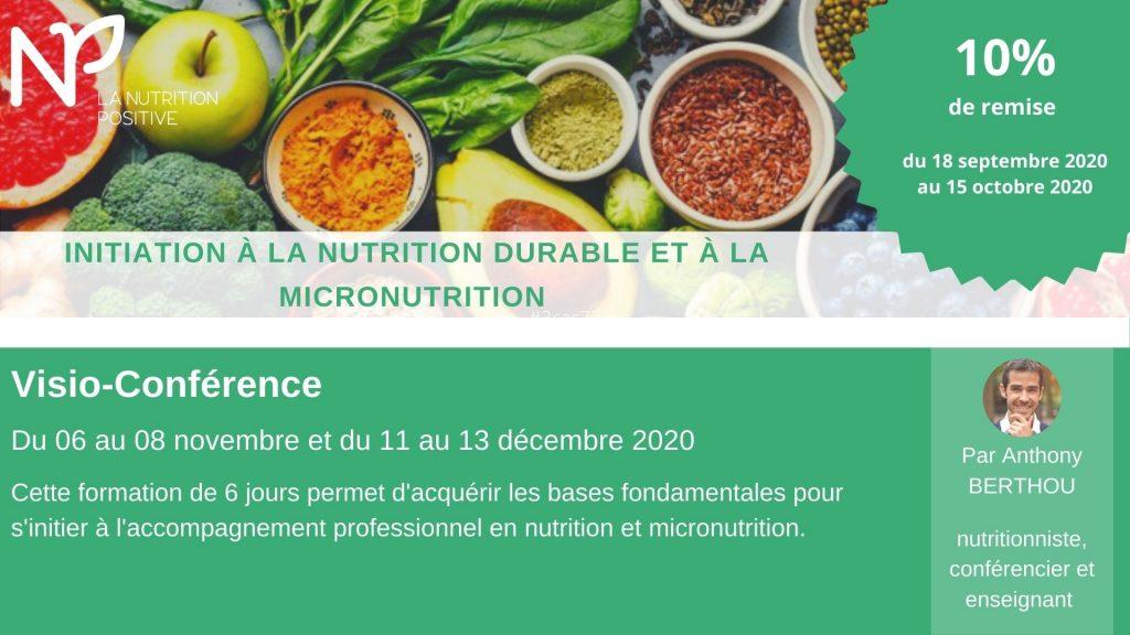 Remise initiation a la nutrition durable et a la micronutrition
