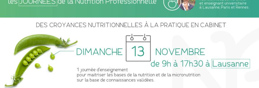 Journée de formation en nutrition : Lausanne le 13 Novembre 2016