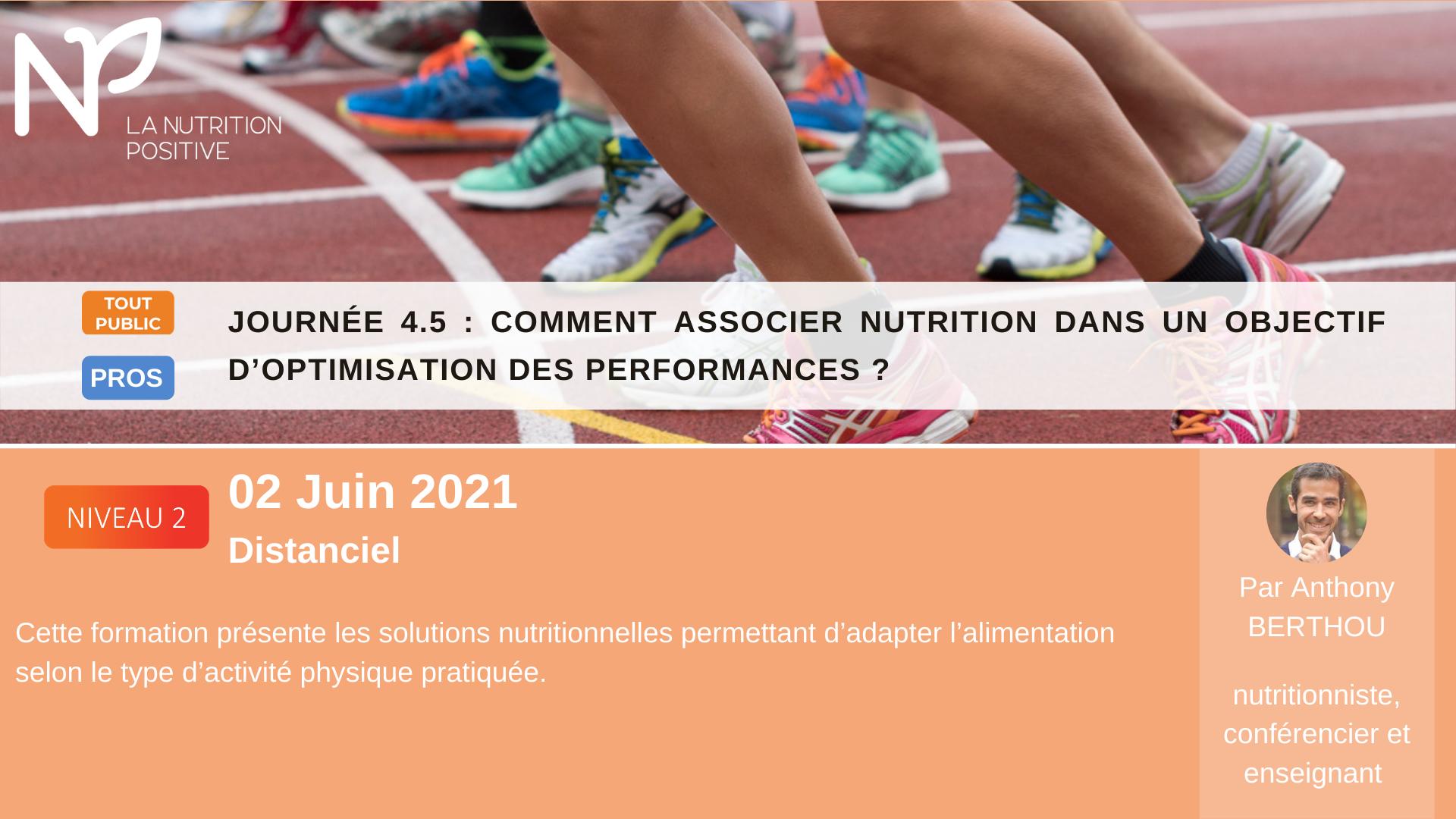 Solutions nutritionnels à adopter dans un objectif d'optimisation des performances