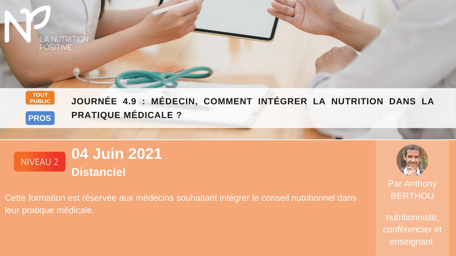 Intégrer la nutrition dans la pratique médicale