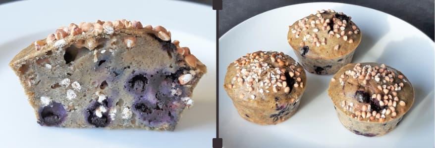 Idée recette : muffins sarrasin myrtilles